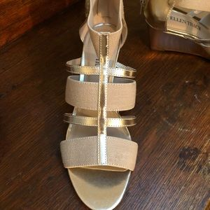 Gold wedge Ellen Tracy sandals